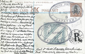 Shipping Postmaster Capetown mark of South Africa